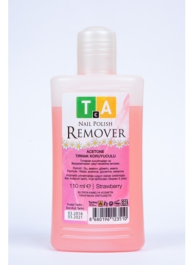 Tca Studio Make Up Nail Polish Remover Strawberry 110Ml Renksiz